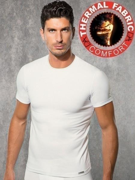 DOREANSE Viloft Likralı Termal Kısal Kol T-Shirt
