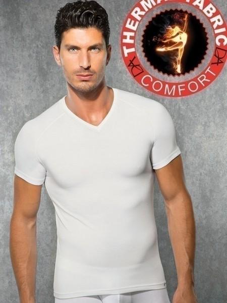 DOREANSE Viloft Likralı Termal V Yaka T-Shirt