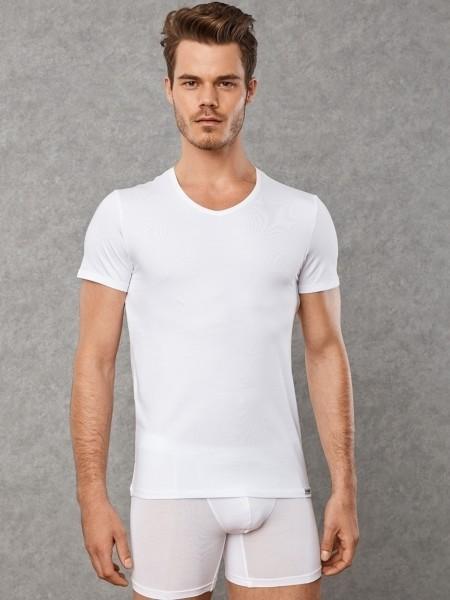 DOREANSE 2 li Paket Likralı Pamuk T-Shirt