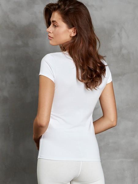 DOREANSE Viloft İnce Termal Kadın V Yaka T-Shirt