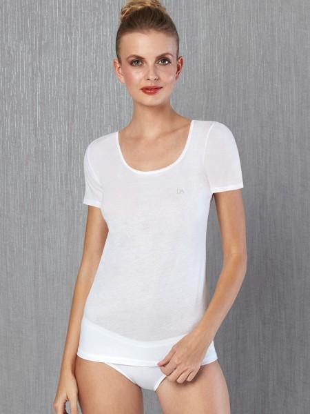 DOREANSE Çok İnce Yazlık % 100 Pamuk Büyük Beden T-Shirt