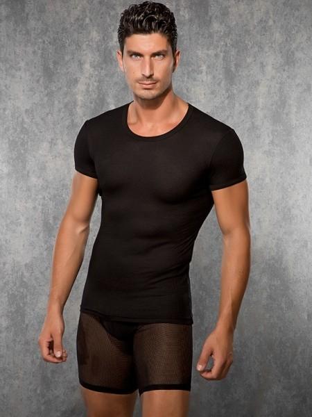 DOREANSE Likralı Modal Kaşkorse Erkek T-Shirt