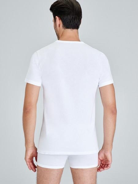Kom ENRICO 2 li V Yaka T-Shirt