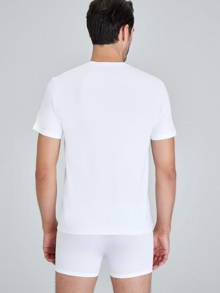 Kom ANTONIO V Yaka T-Shirt