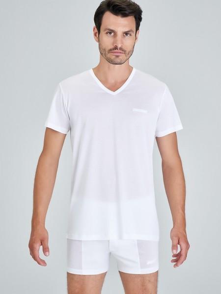 Kom ELITE V Yaka Merserize Erkek T-Shirt