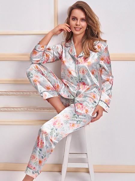 NURTEKS 2 li Saten Pijama Takımı