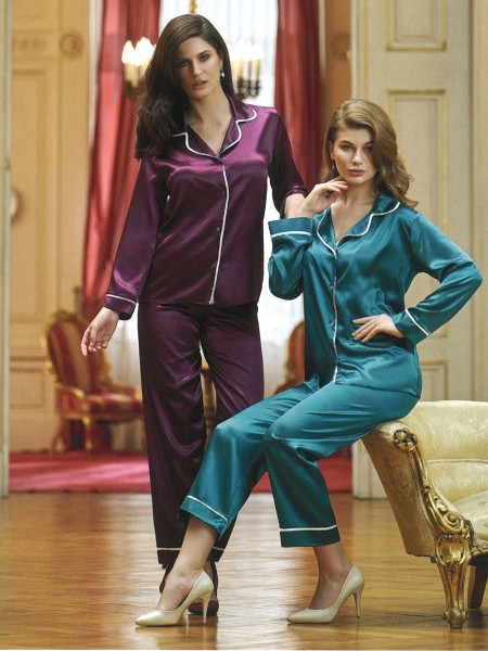 NURTEKS Saten Pijama Takımı